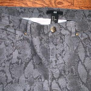 "H&M Jeans - Snakeskin ""Jean"" pants"